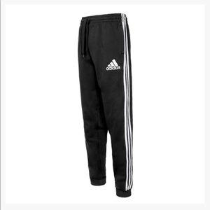 NWT Mens Adidas Black Essential Fleece Joggers